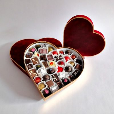 Both Velvet Heart Valentines Chocolates