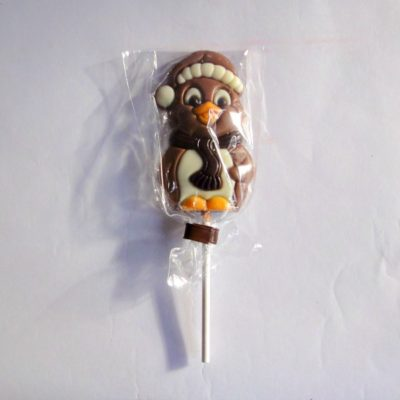 christmas penguin milk chocolate lollies