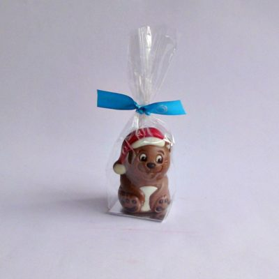 small chocolate christmas bear closed