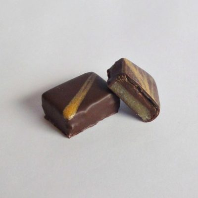 amaretto and marzipan chocolate truffle