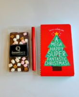 christmas card rocky road Chocolate bar
