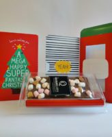 christmas card rocky road Chocolate bar inside