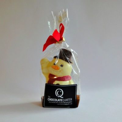 white chocolate christmas snowman closed