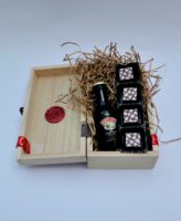 baileys minature and christmas chocolate truffles wooden box