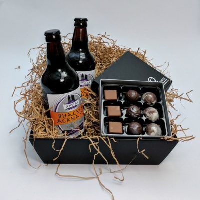 Fathers Day Chocolate Hamper Open