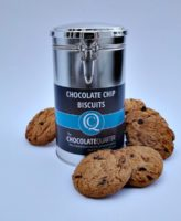 Biscuit Chocolate Chip Clamp Lid Canister