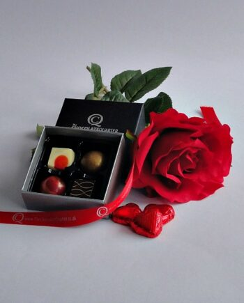 Valentines 4 Choc Box and Rose