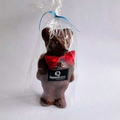 giant chocolate christmas bear closed