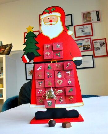 giant wooden santa 24 chocolate advent calendar