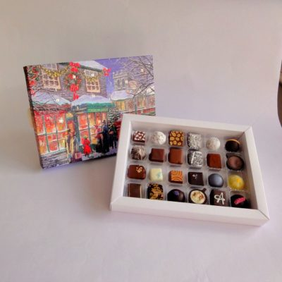 24 chocolate advent calendar open