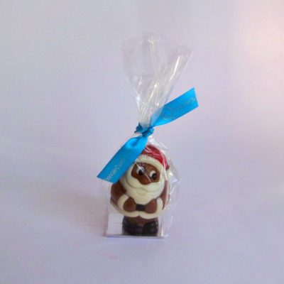 small chocolate christmas santa closed