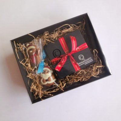 small luxury chocolate christmas hamper closed