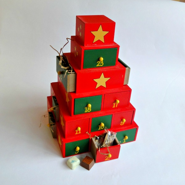 Wooden Christmas Tower 24 Chocolate Advent Calendar The Chocolate