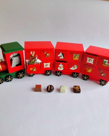wooden train 24 chocolate advent calendar