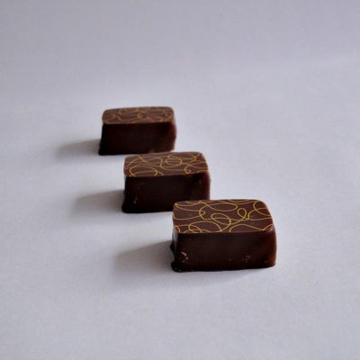 Lemon and Thyme Line Chocolate Truffle
