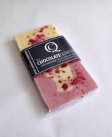 Strawberry and Raspberry Cream Chocolate Bar Wrapped