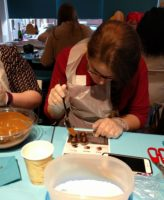 Chocolate truffle dipping experience