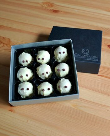 halloween blood sour ghosts Strawberry and Balsamic Chococlate truffle box