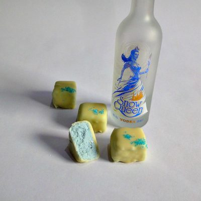 snow queen vodka Lemon chocolate truffle row