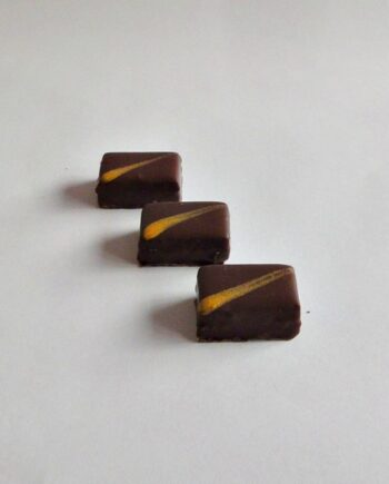 amaretto and marzipan chocolate truffle row