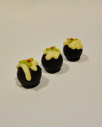 christmas pudding chocolate truffle