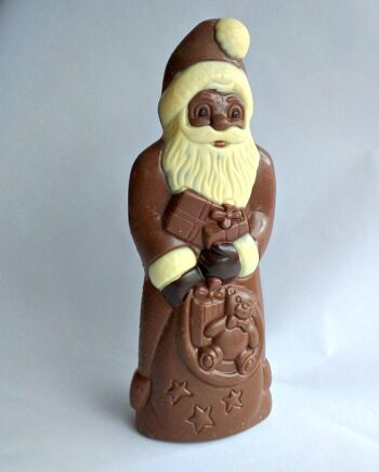 giant Christmas Santa chocolate figure