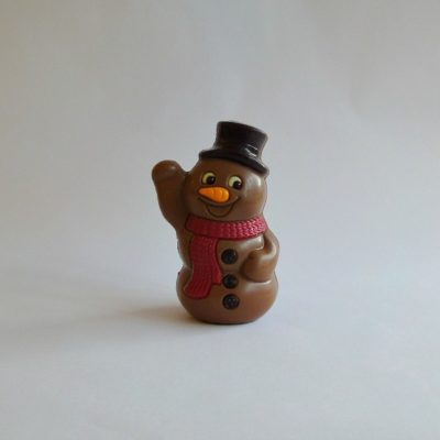milk chocolate christmas snowman