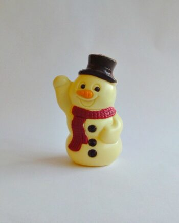 white chocolate christmas snowman