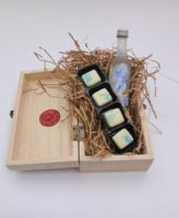 Snow Queen Vodka and Lemon chocolate wooden gift box