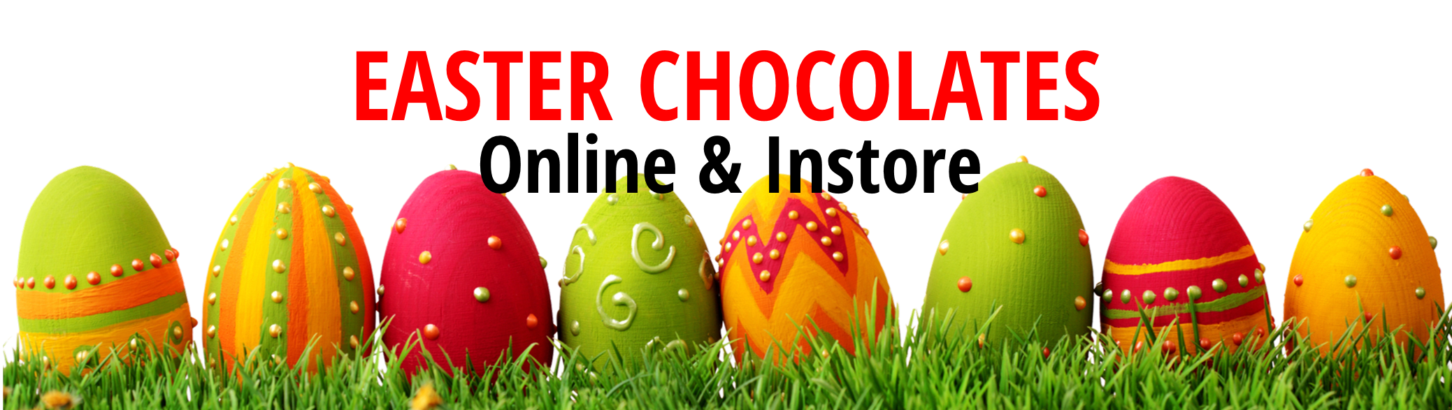 EASTER chocolate BANNER